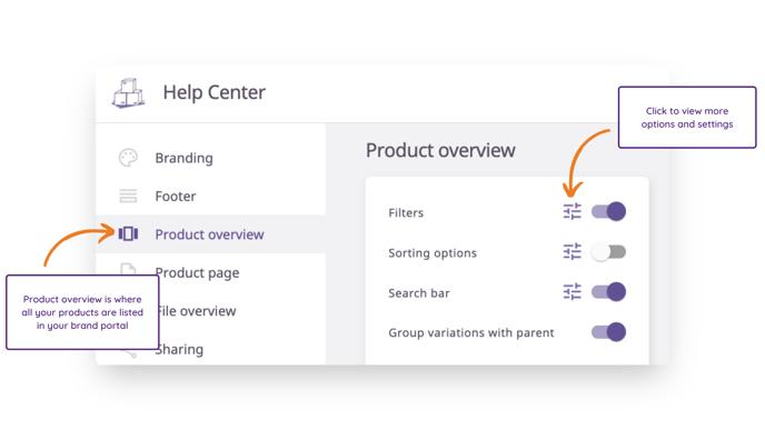 Brand Portal - Filters
