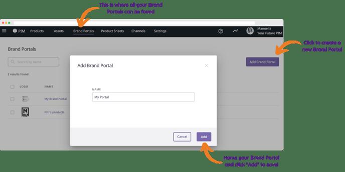 Brand Portal Add