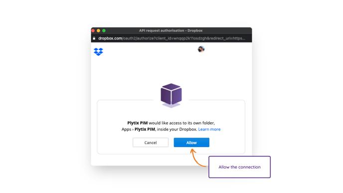 Dropbox connection to Plytix