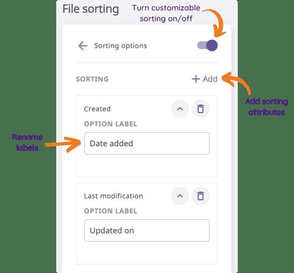 File sorting Brand portals Plytix