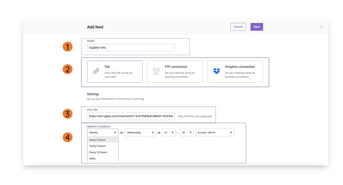 feed-import-settings