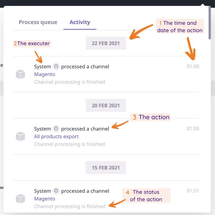 Process Log info