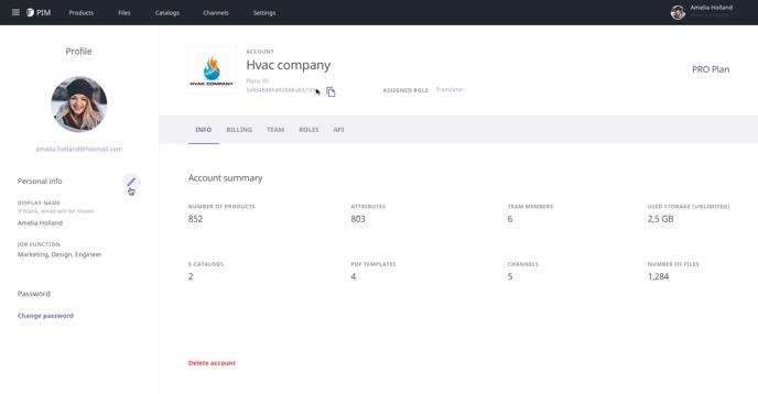 Profile & Account  Info