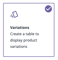 variations-table