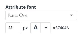 Attribute-font