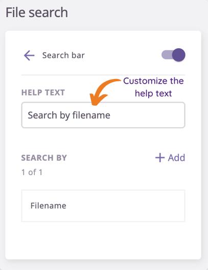 Search bar