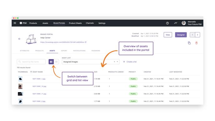 asset overview - brand portal