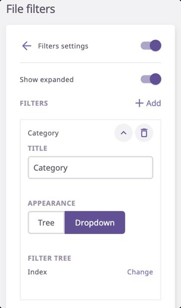 filter e-catalog