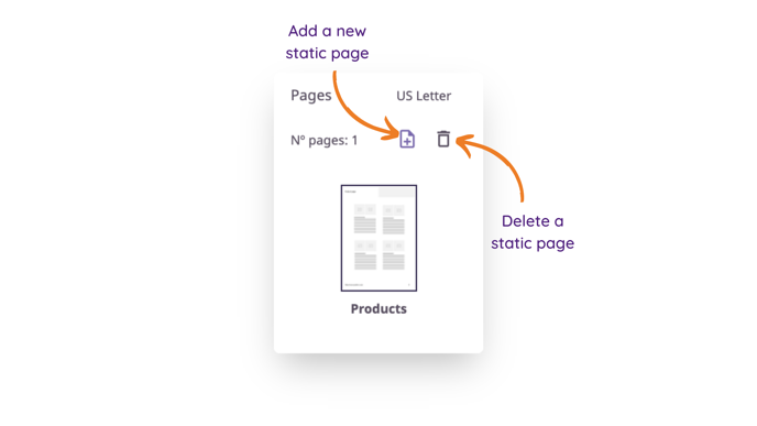 pages - product sheets
