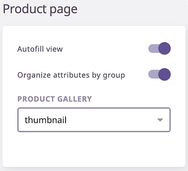 product page autofill