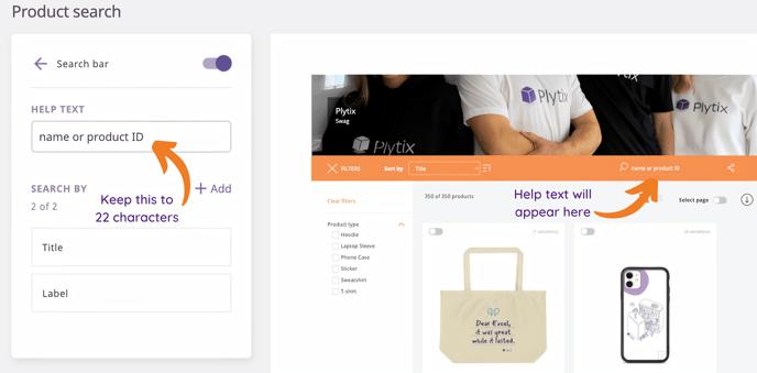 search bar e-catalog designer