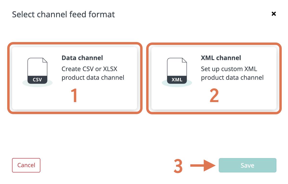 Choosing channel type