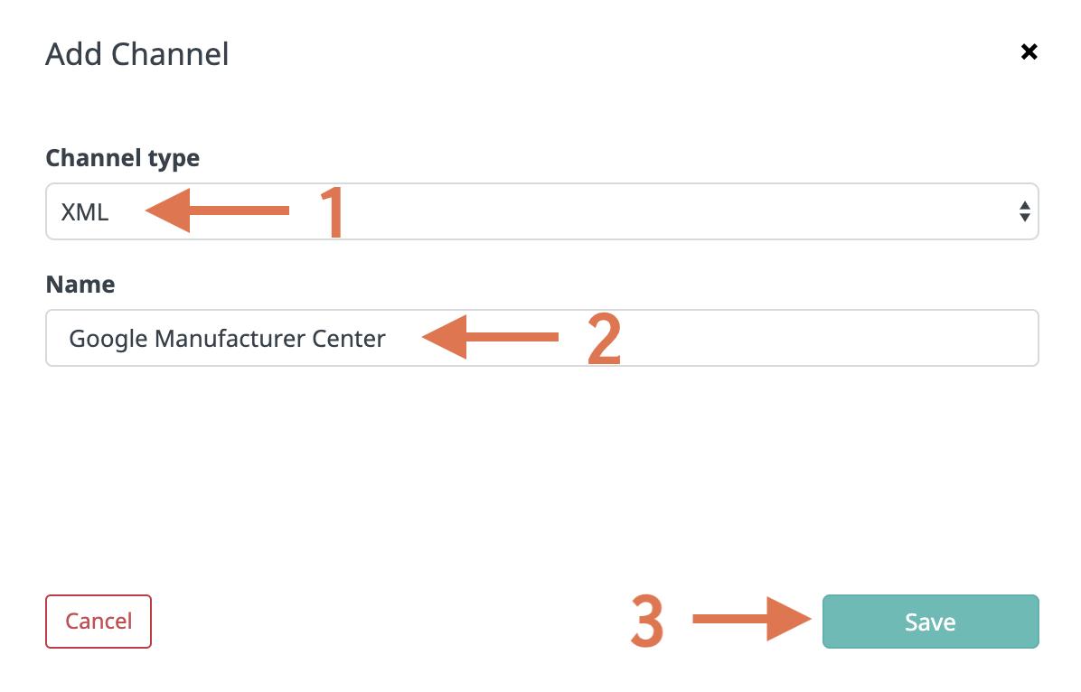 Creating XML channel