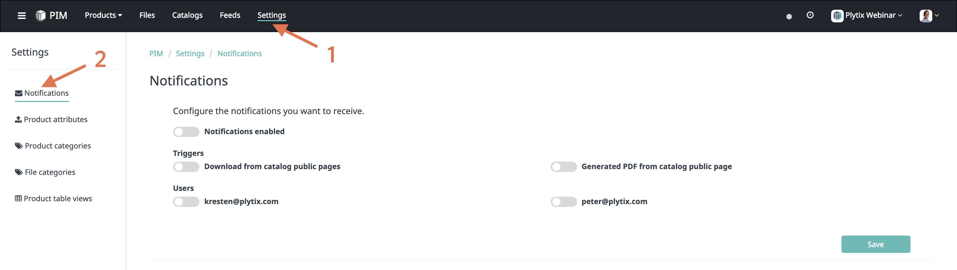 Managing notification settings